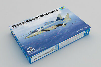 Trumpeter 01680 1/72 Scale Russian MiG-31B/BM Foxhound Fighter Plastic Model