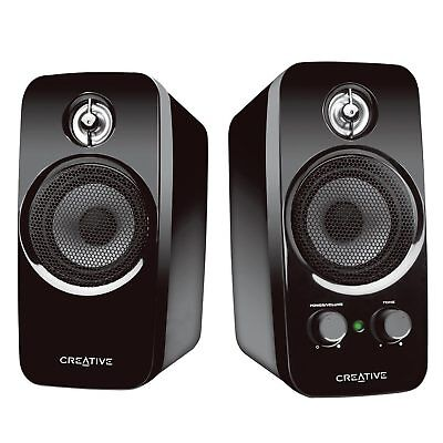 Creative 2.0 Channel Inspire T10 Speaker System Computer PC Compact Bass Aux