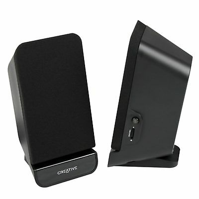 Creative 2.0 Channel SBS A60 Speaker System Computer Space Sacing PC Compact
