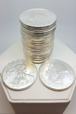 Tube of Liberty Silver Dollars 20 coins American Eagle Bullion (1469)