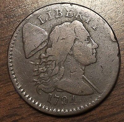 1794 Large Cent with Head of 1795