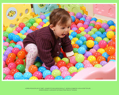 100pcs Colorful Ball Fun Ball Soft Plastic Ocean Ball Baby Kid Toy Swim Pit Toy