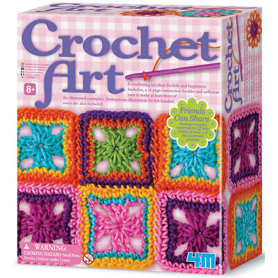 4M Children's Learn to Crochet Art Kit for Kids