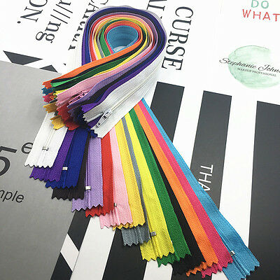 5~500pcs Nylon Coil Zippers Tailor Sewer Craft (9-16 Inch) Crafter's &FGDQRS