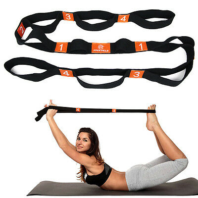 New Yoga Stretch Strap Training Belt Waist Leg Fitness Flexibl Multi-Grip 180cm
