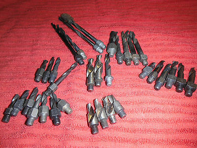 Threaded Drills Various Sizes And Length .212 Gun Barrel, Qty 2 And #8 #2 #13/64