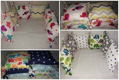 PILLOW BUMPER COT/COTBED made of 6 PILLOWS