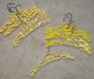 "12"" Vintage Child's yellow Hangers Circus and Lamb Lot of 11"