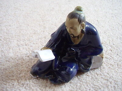 Chinese  clay-pottery madman-figure -ornament,small,1