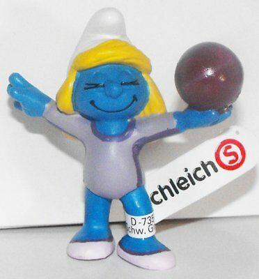 20744 Javelin Thrower Smurf from 2012 Olympic Sports Set Track Plastic Figurine