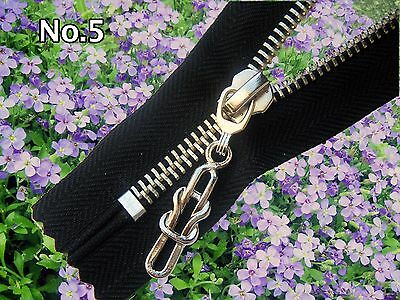 14 cm (5.5 inches)ONE BLACK  ZIP / METAL SILVER TEETH/ CLOSED END/ No 5