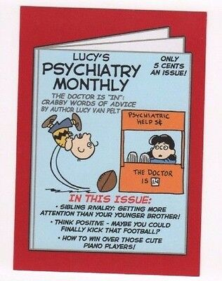 2017 Wacky Packages 50th Anniversary red parallel Lucy's Psychiatry 09/10