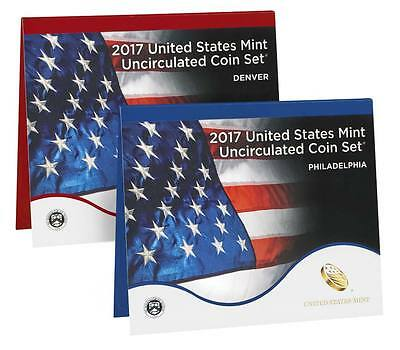 2017 US Mint Uncirculated Coin Set Both Sold Out US Mint Sealed Box 17RJ