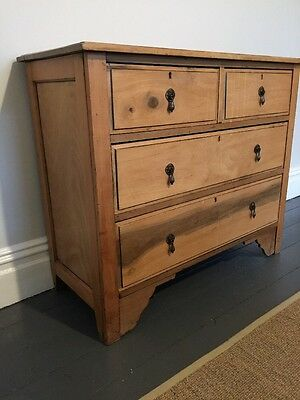 Edwardian Pine Antique chest of drawers