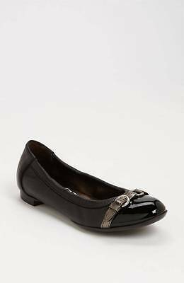 787722101 AGL Attilio Giusti Leombruni Ballet Flats Shoes Leather Black 36/6 $298