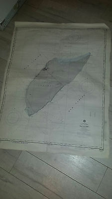 Antique Vintage US Navy Nautical Chart  Aeronautical Map   COZUMEL  Mexico  Isla