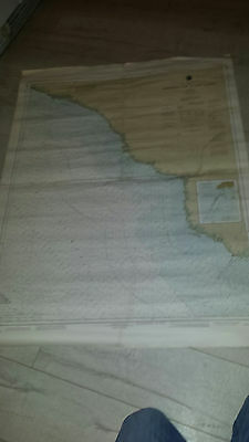 Antique Vintage US Navy Nautical Chart  Aeronautical Map Horseshoe Point FLORIDA