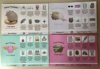 Pusheen Subscription Box - COMPLETE 2016 Promo Cards - Set of 4!