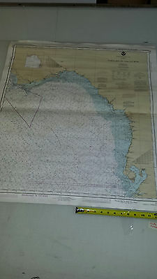 Antique Vintage Nautical Chart  Aeronautical Map  Tampa Bay to Cape San Blas FLA