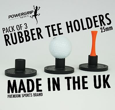 25mm Powergrip Sport Rubber Tee Holders For Golf (3 Pack) winter tees