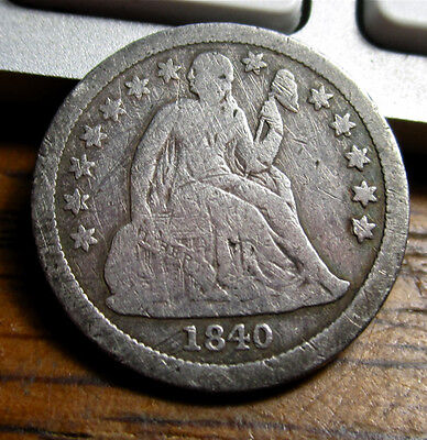 1840 Seated Liberty Half Dime WITH Drapery, Rare Key Date