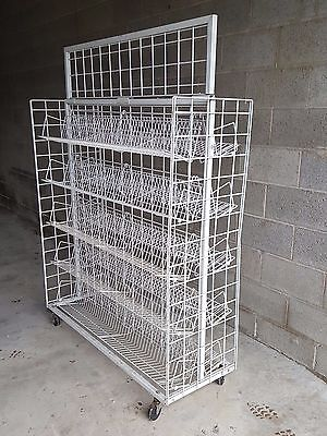 Wire Display Racks with Adjustable Shelves