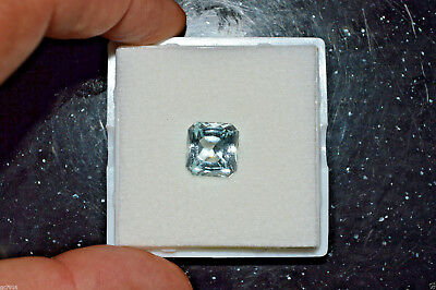 AQUAMARINE Natural Very Light Greenish Blue 7.91 ct Pakistan Certificate