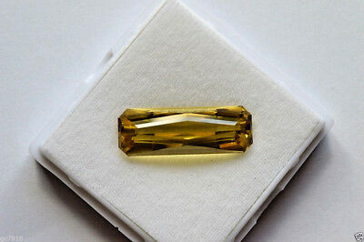 Heliodore Natural Light Intense Yellow 21.775 ct Pakistan Certificate
