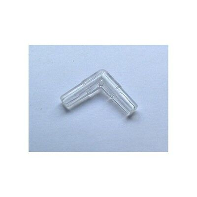 Plastic 90° Transparent Aquarium Elbow Connector Air Line Connector