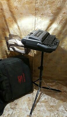 Stenograph Stentura 200 Realtime Writer w/Tripod Stand, Tray & Carrying Case