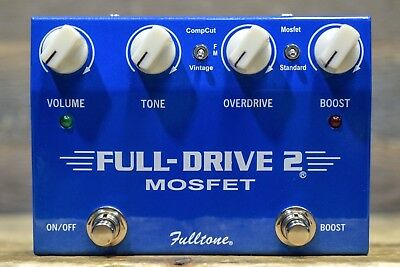 Fulltone Full-Drive 2 Mosfet Overdrive / Distortion / Boost Guitar Effect Pedal