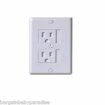 NEW KidCo Universal Outlet Cover 3 Pack in White for Standard & Decora Outlets