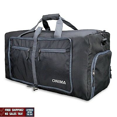 "Extra Large Duffel Bag 85L Travel Sports Gym Waterproof Foldable Black 27"" New"