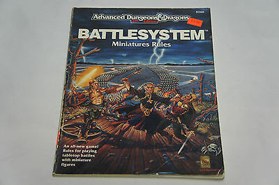 Advanced Dungeons and Dragons 2nd Edition Battlesystem Miniature Rules