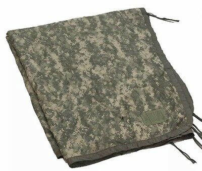 US Military Wet Weather Poncho Liner Woobie ACU Army/USMC DIGITAL CAMO VGC
