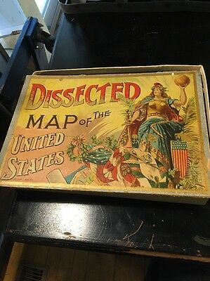 Antique Dissected Map Of The United States Puzzle