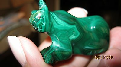 Malachite Cougar Figurine