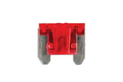 GENUINE Low Profile Mini Blade Fuse 10-amp Red Pack 25 | Connect 30440