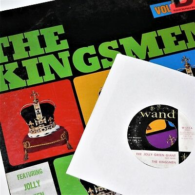 THE KINGSMEN - JOLLY GREEN GIANT & III / 3 - 1965 Stereo vinyl LP - VG+ Shrink