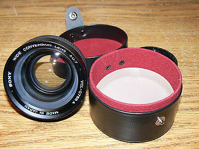 Vintage Sony VCL-0758A Wide Conversion Lens X0.7 with Lens Box and Cap Japan