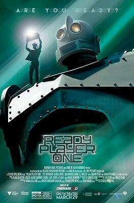 READY PLAYER ONE 2018 Cinemark Exclusive Promo Mini Movie Posters Set Of 2 MINT