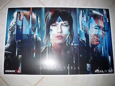 GHOST IN THE SHELL 2017 Cinemark Exclusive Promo Mini Movie Poster S Johansson