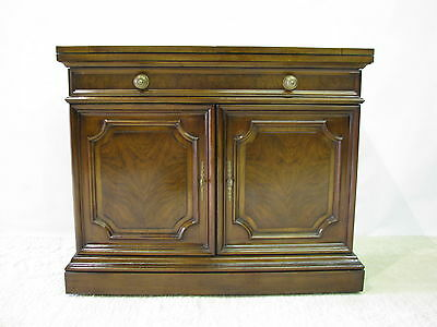 Karges Louis XVI Style Server With Dramatic Patterned Walnut Veneers & Flip Top