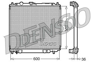 Denso Radiateur drm45014 remplacement mb890957 732748