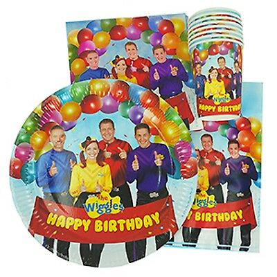 The New Wiggles Party Supplies 40pc Party Pack - Plates, Cups, Napkins, Lootbags