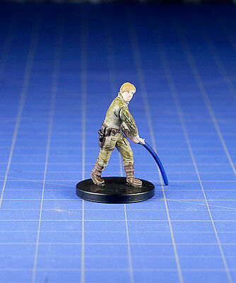 Star Wars miniatures minis Bounty Hunters Luke Skywalker of Degobah #08 & Card