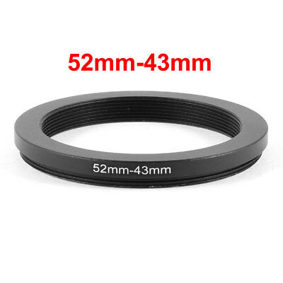 Camera Parts 52mm-43mm Lens Filter Step Down Ring Adapter Solid Black
