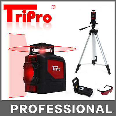 1 Plane 3D 360° Self Leveling Rotary Cross Laser Level Multi Line With Tripod