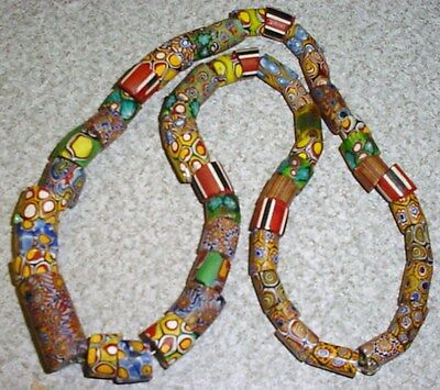 Large Lot 53 Antique African Millefiori Trade Beads