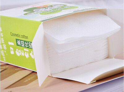 Disposable Facial Cleansing Cotton Tissue Pad Makeup Remover 100 Sheets Top YUw